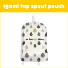 Sinchies Monochrome Droplets reusable food pouches pack of 10