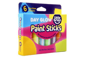 Little Brian Paint Sticks - Day Glow Colours (Pack of 6)