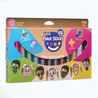 Little Brian Paint Sticks - Face Paint Sticks 12 pack