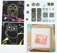 Load image into Gallery viewer, Photo Frame Scratch Spiro Art Owl