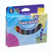 Load image into Gallery viewer, Little Brian Paint Sticks - Window 6pk