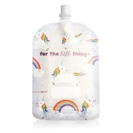 Sinchies Unicorn and Rainbow reusable food pouches pack of 10