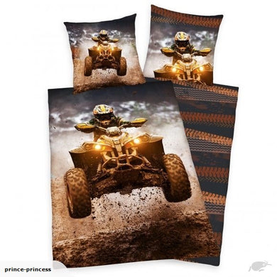 Quad Motorbike Single Duvet Cover And Pillowcase Set
