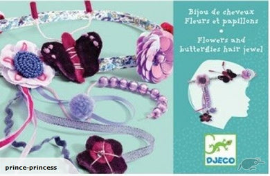 Djeco: Hair Jewels - Flowers & Butterflies