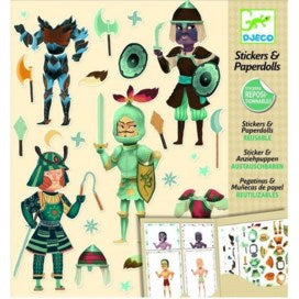 Djeco Reusable Stickers & Paper Dolls Knights