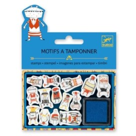 DJECO Mini Stamping Kit Little Monsters