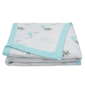 WAFFLE JERSEY COT BLANKET - DREAM BIG