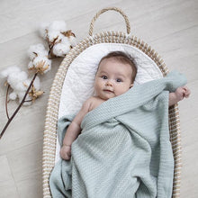 Load image into Gallery viewer, Organic Bassinet/Cradle Cellular Blanket - Sage