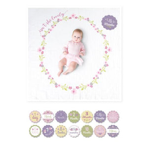 Isn't She Lovely Milestone Blanket