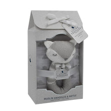 Load image into Gallery viewer, CHARLIE THE FOX RATTLE & MUSLIN GIFT SET