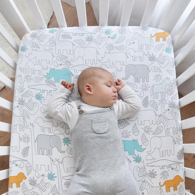 COT FITTED SHEET - URBAN SAFARI