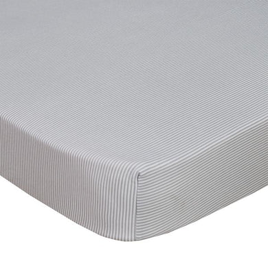 JERSEY COT FITTED SHEET - GREY STRIPE