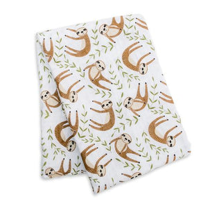 Muslin Cotton Swaddle- Sloth