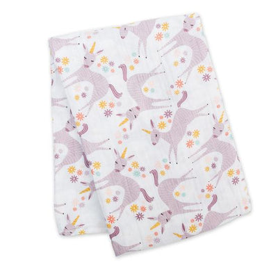 Muslin Cotton Swaddle-  Unicorn