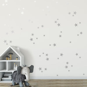 WALL DECALS - SILVER STARS