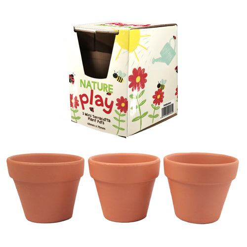 Natures Play 3pc Terracotta Pots