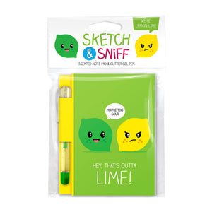 Sketch & Sniff Note Pads - Lemon and Lime