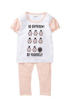 Be yourself everyone else is taken lady bug tee & legging set