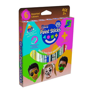 Little Brian Paint Sticks - Face Paint Sticks 6 pack