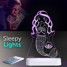 Aloka USB/Battery LED Night Light - Mermaid