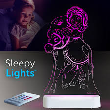 Aloka USB/Battery LED Night Light Princess and Pony