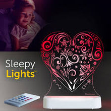 Load image into Gallery viewer, Aloka USB/Battery LED Night Light- Heart