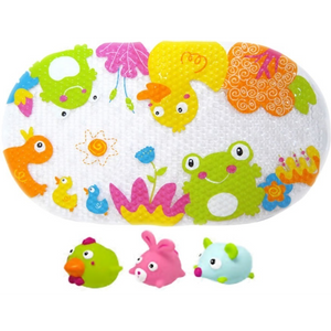 Escabbo Bath Mat & Squirters - At the pond