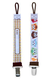 OLIVER OWL PERSONALIZED PACIFIER CLIP