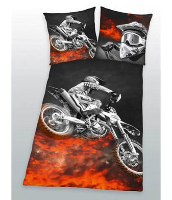 Motorcross Single Duvet Cover And Pillowcase Set