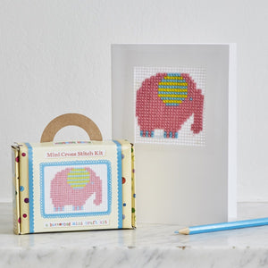 Mini elephant cross stitch kit