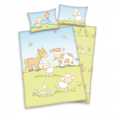 Farm Animals Cot duvet cover