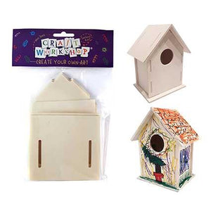 Craft CYO Art Bird House 17cm