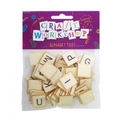 Craft Alphabet Tile 52pc 20mm