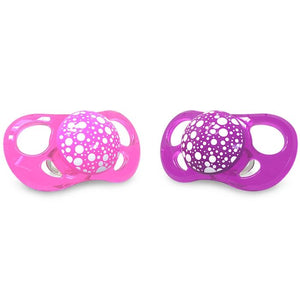 Twistshake 2 X PACIFIER PINK/PURPLE 0+M
