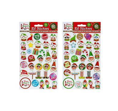 Xmas Naughty Elf Stickers