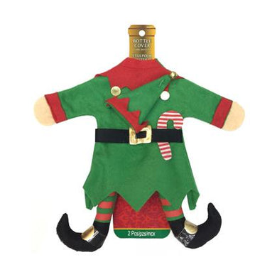 Xmas Naughty Elf Bottle Cover