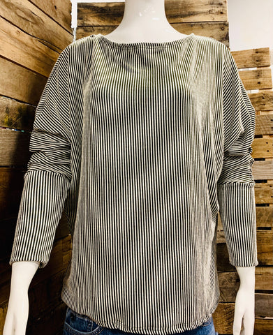 Olive/Cream Ribbed Longsleeve