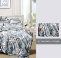 Relax  Foliage Fitted Sheet Set / Quilt Cover Set