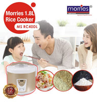 Morries 1.8L Rice cooker w/steamer MSRC40DL