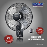 "MS-333WFR 16"" WALL FAN W/REMOTE CONTROL"