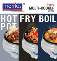 MORRIES MS 1388 3 IN 1 MULTI COOKER