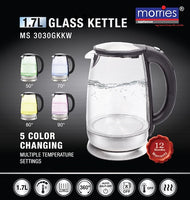 MORRIES 1.7L ELECTRIC GLASS KETTLE MS3030GKKW