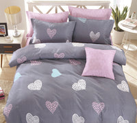 Rosetta 100% Cotton Fitted Sheet Set / Quilt Cover Set