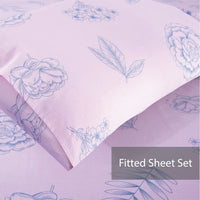 Botanique 100% Cotton Fitted Sheet Set / Quilt Cover Set