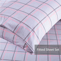 Lula 100% Cotton Fitted Sheet Set / Quilt Cover Set