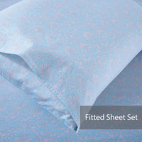 Mindala 100% Cotton Fitted Sheet Set / Quilt Cover Set