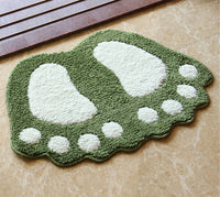 Foot Print Bath Mats,Non-slip Bathroom Carpet,Mat Toilet Tapete Para Banheiro,Bathroom Rug Bath Pad Carpets,Microfiber Mini Mats
