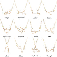 Todorova Star Zodiac Sign 12 Constellation Necklaces & Pendants Choker Necklaces for Women Long Chain Necklace bijoux femme