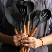 Silicone Spatula Heat-resistant Soup Spoon Non-stick Special Cooking Shovel Kitchen Tools