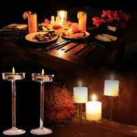 Elegant Romantic Goblet Glass Candle Holder Candlestick Valentine's Day Wedding Dinner Home Decoration Creative Light Tools